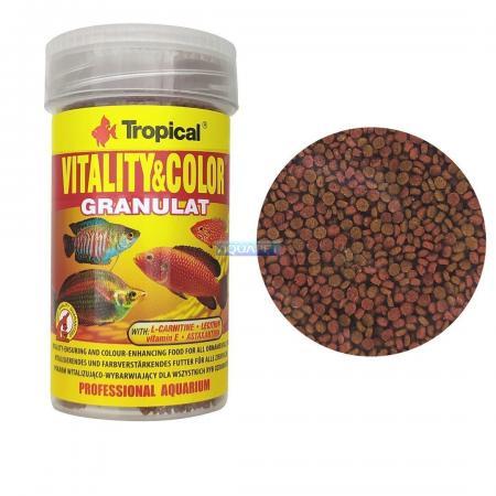 Ração Para Peixe Vitality&color Granulat Tropical 55g 100ml