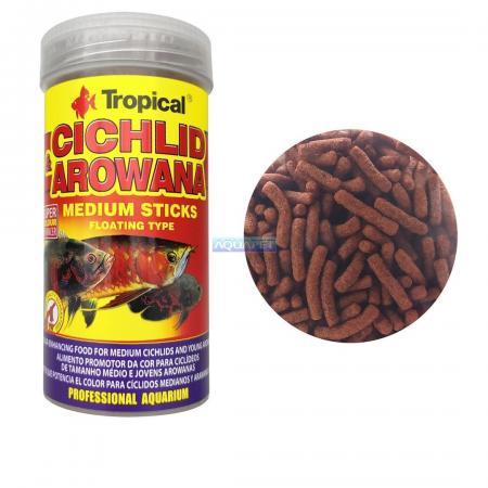 Ração Cichlid&arowana Medium Sticks Tropical 250ml 90g