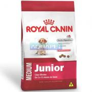 RA��O MEDIUM JUNIOR 2 AOS 12 MESES 3KG ROYAL CANIN