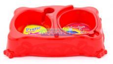 COMEDOURO PRATIC MED REF.806 VERMELHO PLAST PET