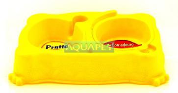 COMEDOURO PRATIC MED REF.310 /529 AMARELO PLAST PET