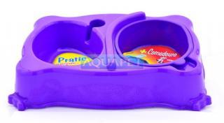 COMEDOURO PRATIC MED REF.807/530 ROXO PLAST PET