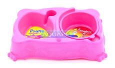 COMEDOURO PRATIC PEQ REF.309/520 ROSA PLAST PET