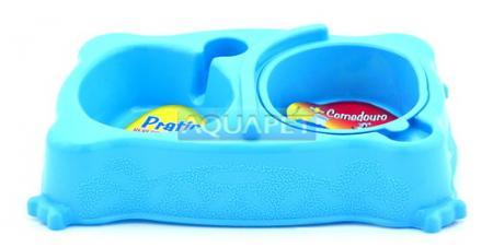 COMEDOURO PRATIC GRD REF.810 AZUL PLAST PET