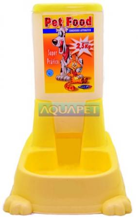COMEDOURO AUT.PET FOOD 2,5KG REF.822 AMARELO PLAST PET