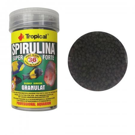 Tropical Spirulina Super Forte Granulat 60g - Ração Peixes