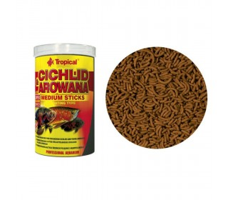 Ração Cichlid&arowana Medium Sticks Tropical 250ml 90g
