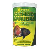 Ração p/ Peixe Cichlid Spirulina Large Sticks Tropical 300g