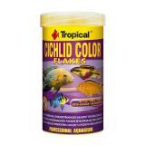 Ração Para Peixe Cichlid Color Tropical Flakes 20g 150ml