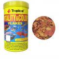 Ração Tropical Goldfish Color 110g alimento em flocos