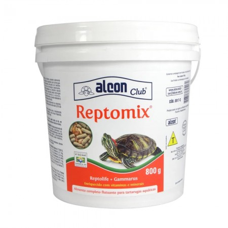 Ração Para Tartarugas Aquáticas Alcon Club Reptomix 800g