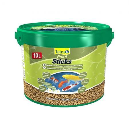 Ração Tetra Pond Sticks 10l 1,2kg Carpas E Peixes De Lago