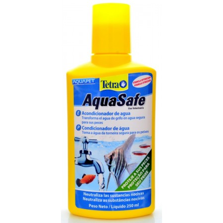 Tetra Aquasafe 250ml Neutraliza Cloro E Metais Pesados