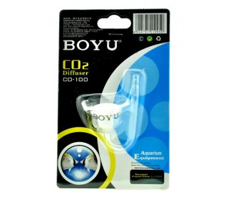 Difusor Co2 Boyu serpentina de vidro Co-100