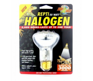 Zoomed Repti Halogen Heat Lamp (3000 Hours) Hb-50 110v