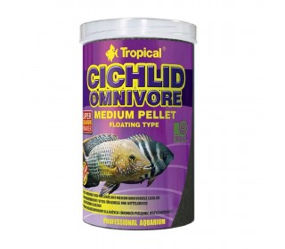 Ração CICHLID OMNIVORE MEDIUM PELLET 360G TROPICAL