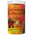 Ração Tropical Cichlid Carnivore Medium Pellet 360g Ciclideo