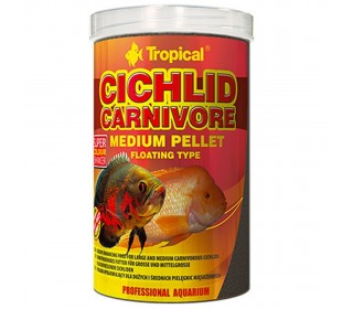 Ração Tropical Cichlid Carnivore Medium Pellet 360g Ciclideo