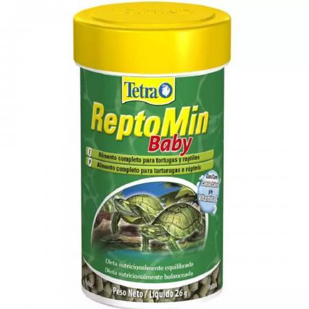 Ração Tetra Reptomin Baby 26g 100ml Répteis Tartarugas