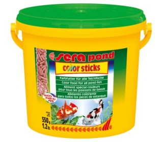 Sera Pond Color Sticks 550g Ração P/ Realçar Cores De Carpas