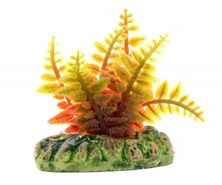 Planta Plastica Samambaia Rendada Mescla 4cm 0459 Mydor
