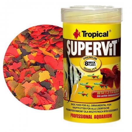 Ração Para Peixe Supervit Flakes 200g Tropical