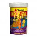 Ração Para Peixe Discus Gran D-50 Plus Baby 52g Tropical