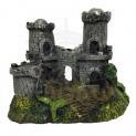 Enfeite para Aquário Castelo Cinza Pequeno Fragata