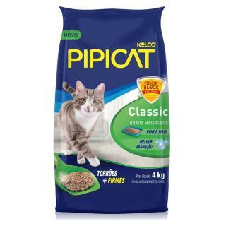 Areia P/gato Pipicat Classic 4k Kelco