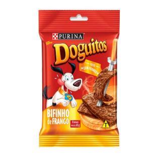Petisco Para Cães Bifinho Sabor Frango 65g Doguitos