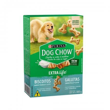 Biscoitos Dog Chow Biscuits Para Cachorros Filhotes 300g