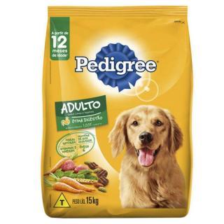 Ração Pedigree Carne E Vegetais Para Cães Adultos 15 Kg