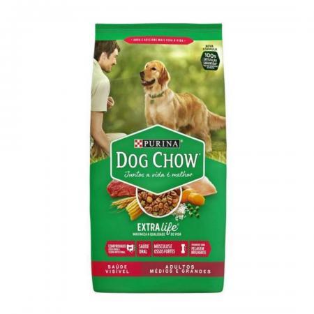 Ração Para Cães Extra Life Carne e Vegetais 15kg Dog Chow
