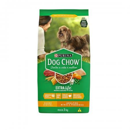 Ração Seca Purina Dog Chow Extra Life Raças Pequenas 3kg