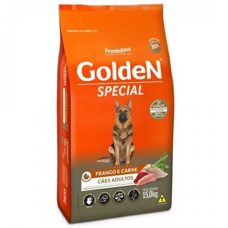 Racao Golden Special Frango E Carne Adulto 15 Kg