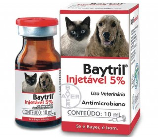 Baytril Injetável  5&37; 10ml Bayer