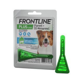 Antipulgas e Carrapatos Frontline Plus p/ Cães de 10 a 20kg - Merial