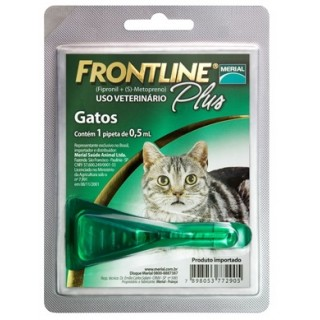 Antipulgas e Carrapatos Frontline Plus p/ Gatos - Merial