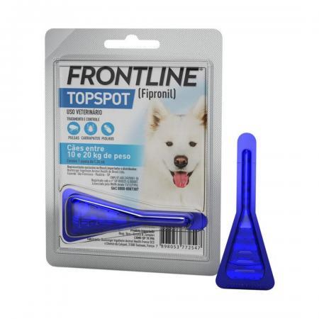 Antipulgas e Carrapatos Frontline Topspot p/ Cães de 10 a 20kg - Merial