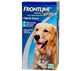 Antipulgas e Carrapatos Frontline Spray p/ Cães e Gatos 250ml - Merial