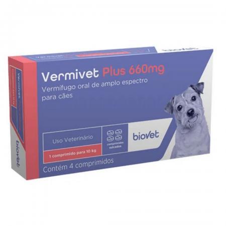 VERMIVET PLUS 4 CP 660MG  BIOVET