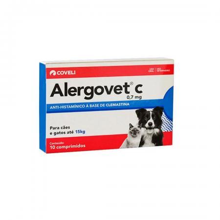 ALERGOVET C 0,7MG 10COMP COVELI