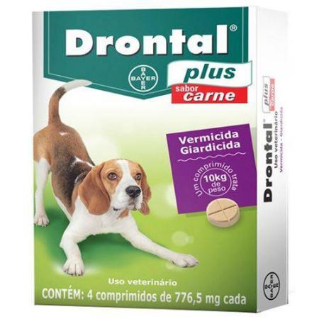 Drontal Plus Carne 10kg C/4  Bayer Full