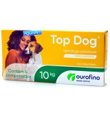 TOP DOG VERMIFUGO C/4 COMP.1000MG 10KG OURO FINO