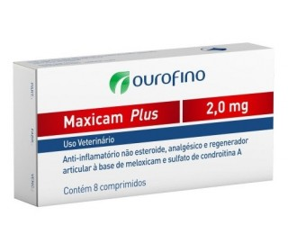 Maxicam Plus 2mg C/8comp Vet Vida