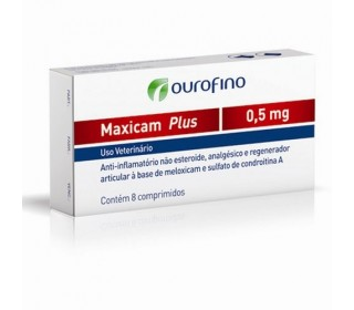MAXICAM PLUS 0.5MG C/8COMP OURO FINO