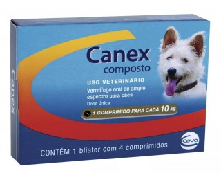 Vermífugo Canex Composto - 4 Comprimido Ceva