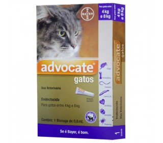 Antipulgas Advocate Gatos 0,8ml ( 4-8 kg) bayer