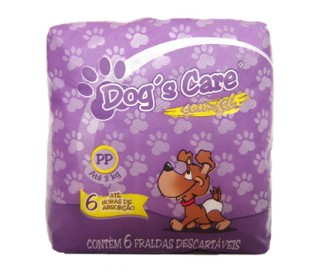 DOGS CARE FRALDA ABSORVENTE FEMEA TAM.PP 6 UNT DOG CARE
