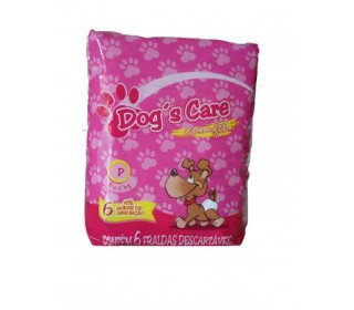 Dogs Care Fralda Absorvente Femea Tam.p 6 Unt Dog Care
